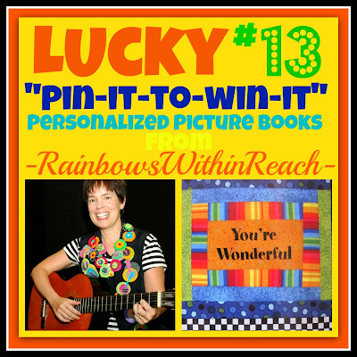 photo of: Lucky #13 &quot;Pin-it-to-Win-it&quot; with Rainbows Within Reach (Personalized Picture Book Give-Away)