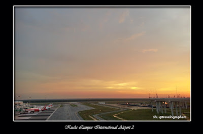 Air Asia, Kuala Lumpur International Airport 2, KLIA 2, Sunset at Airport, Senja di Bandara, Dawn