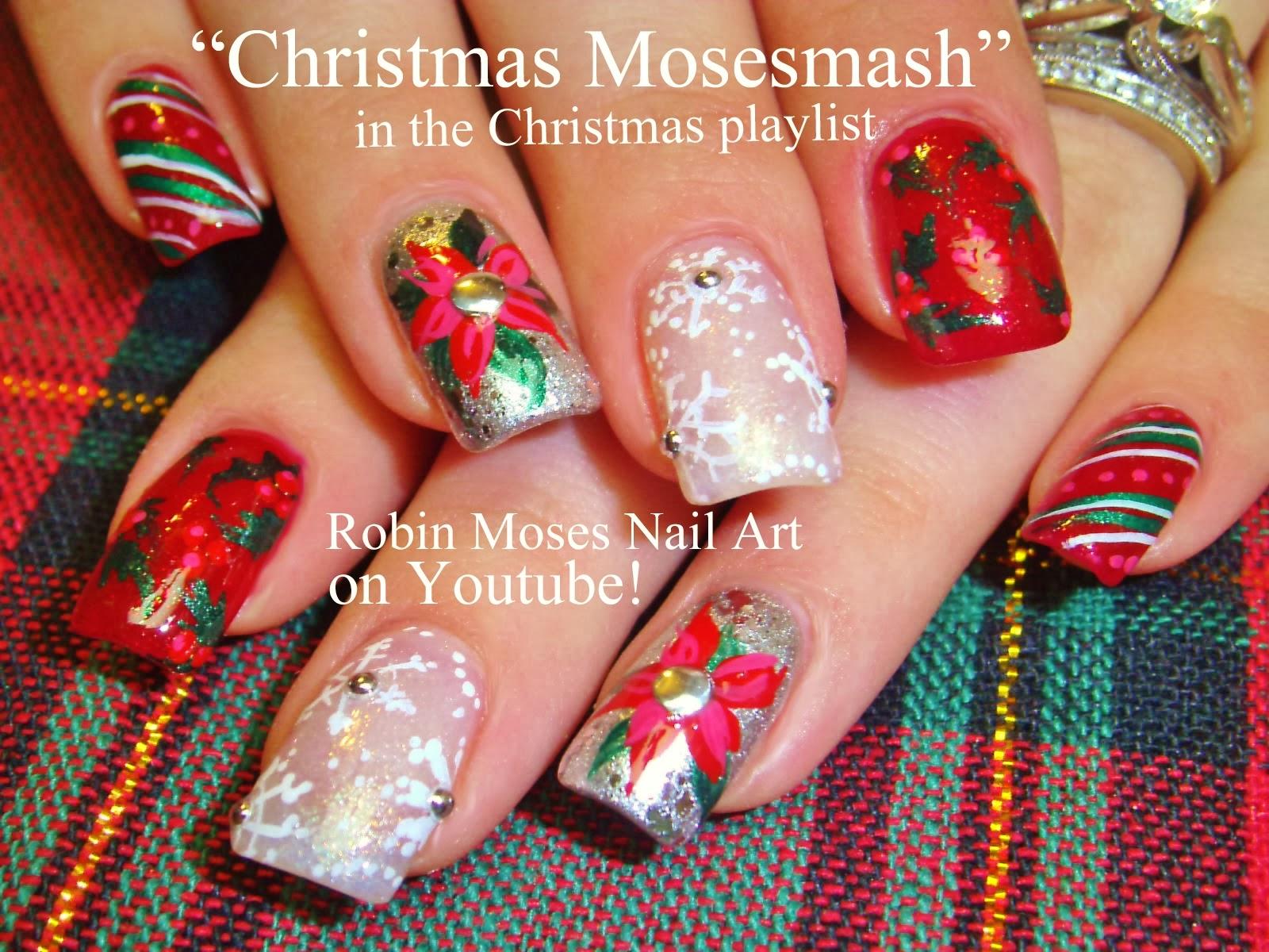 Robin moses nail art nail art christmas holiday nail art nail art christmas holiday nail art holiday ideas holiday nails xmas nails xmas nail art poinsettias snowflake nails candy cane nails prinsesfo Images