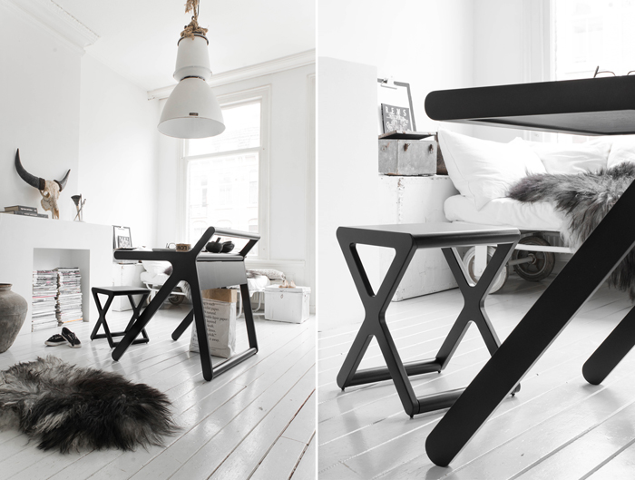 black&white working space K desk by Rafa-kids photo Paulina Arcklin