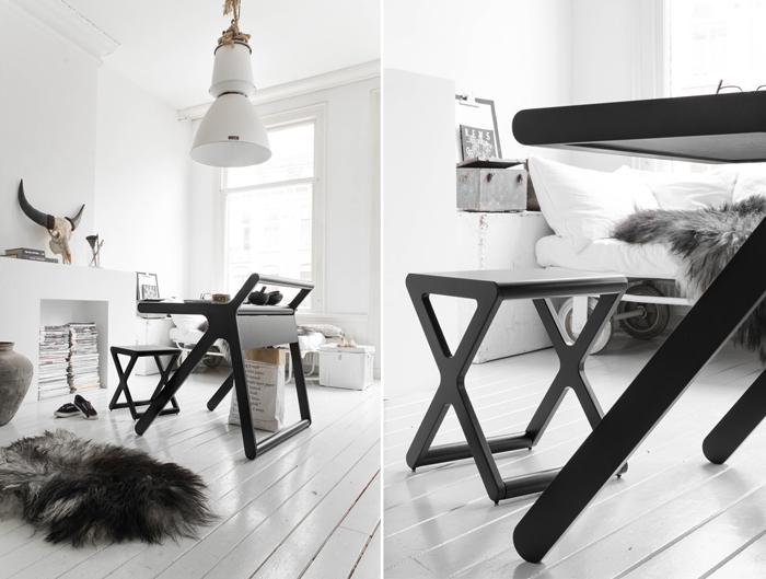 black&white working space K desk by Rafa-kids photo Paulina Arcklin