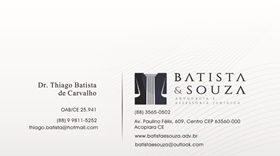 Advogado Dr. Thiago Batista