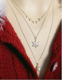 susi d snowflake trio necklace st