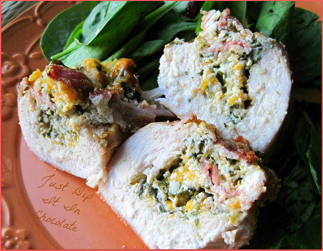 Stuffed Chicken Medallions Recipe, Bacon and Cheese bring these delicious chicken breast to a 5 star restaurant level! So easy to make, perfect for the holidays or times you want to feel special! #chickenrecipes, #stuffedchicken, #chickenmeals #chickenmedallions