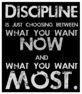 Midweek motivation - discipline