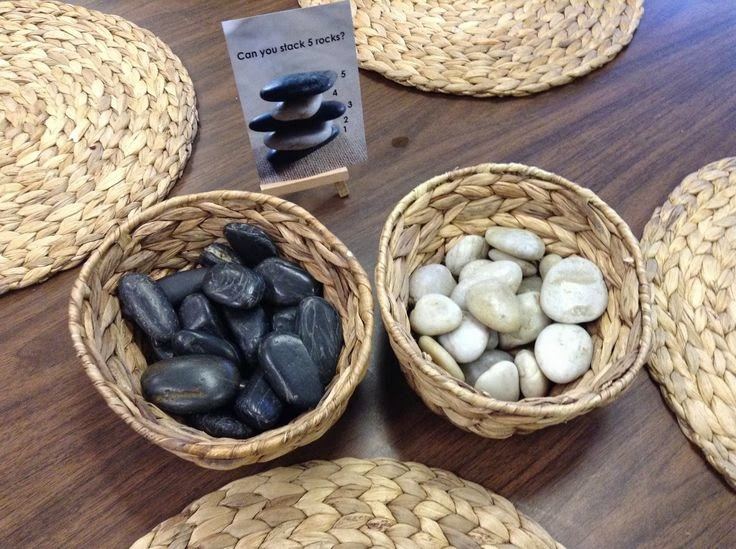 rock sorting for early childhood maths