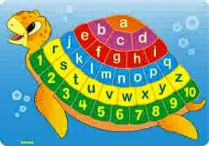 Puzzle Edukasi Alphabet Kura-Kura