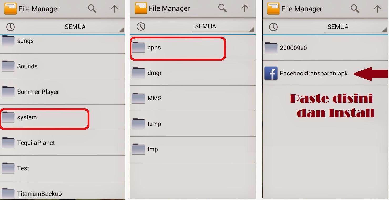 Facebook Mod Background Transparan free download