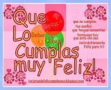 tarjetas,cumpleaños , globo ,besos , flores , corazones , felicitaciones