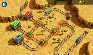 Screenshots of the Trainz Trouble for Android tablet, phone.