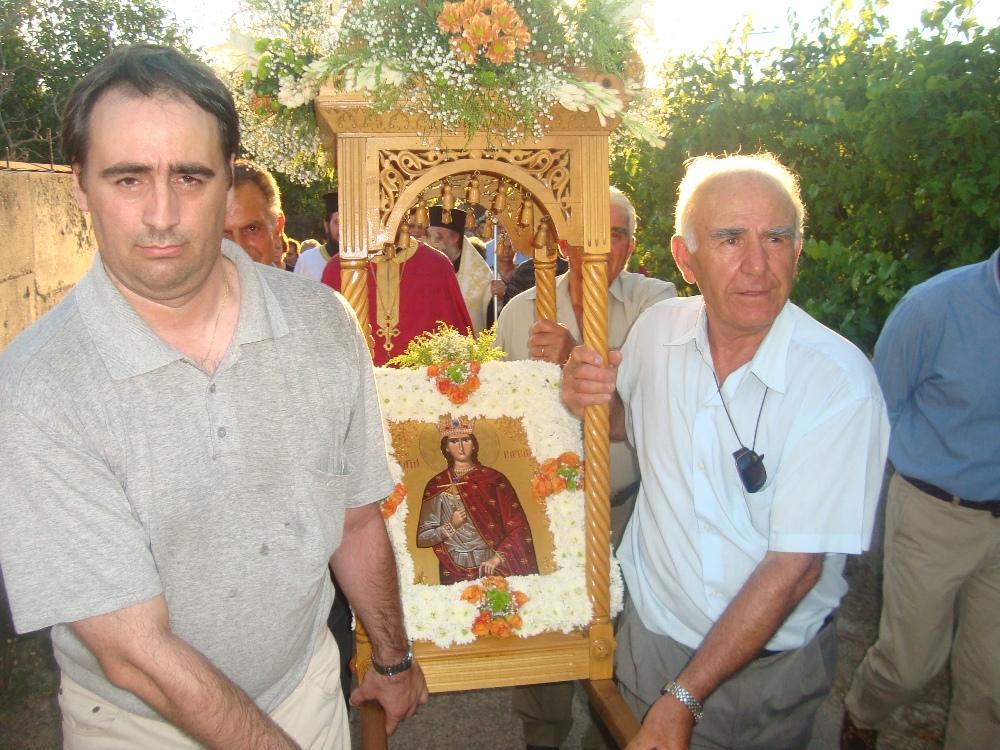 MYSTAGOGY: The Miracle of St. Barbara in Polydendri, Attica onattica village