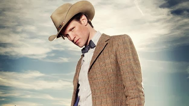 Matt Smith as the Eleventh Doctor with a Stetson