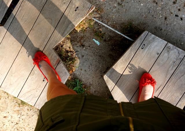 Bailarinas rojas lazo