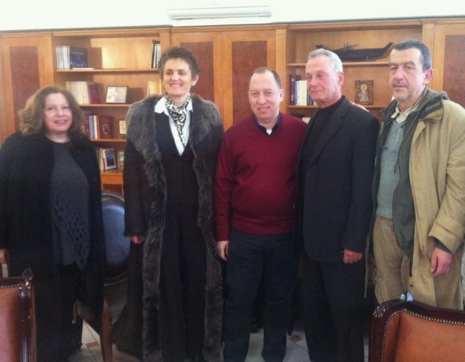 Επίσκεψη του τέως Αντιπρόεδρου της Βουλής και υποψήφιου Βουλευτή Επικρατείας με τους Ανεξάρτητους Έλληνες κ.Παναγιώτη Σγουρίδη, σε αρχές και φορείς της Καστοριάς.