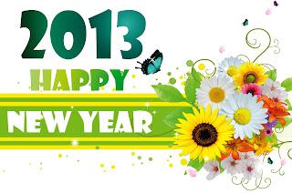 hình nền hoa cỏ chúc mừng năm mới 2013