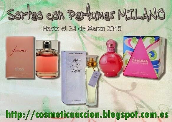 sorteo con perfumes milano en cosmetica en accion
