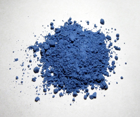 Image of ultramarine paint pigment