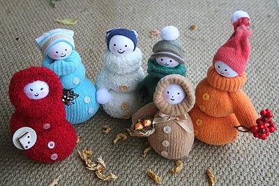 Κούκλες φτιαγμένες από γάντια
