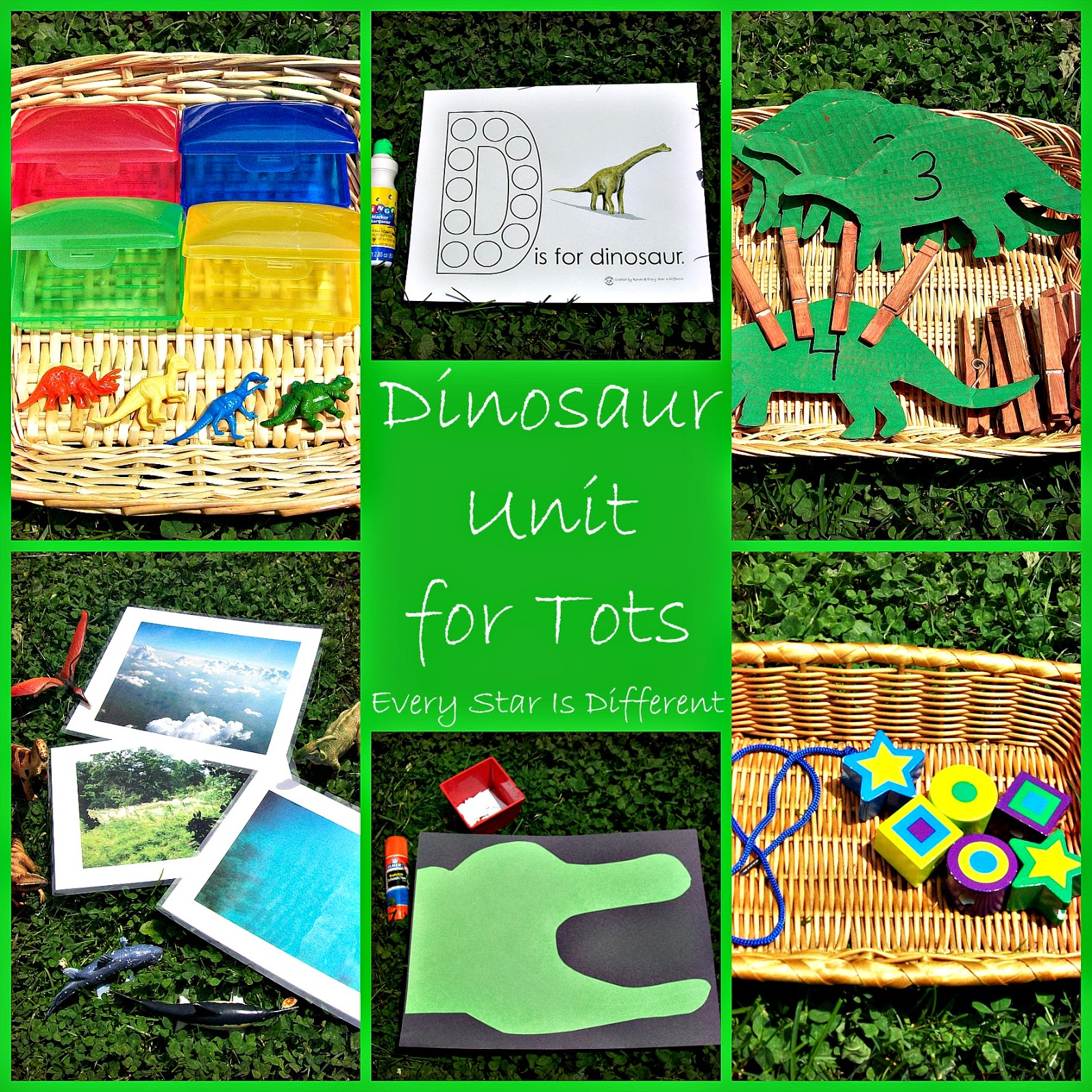 Dinosaur Unit for Tots w/ Free Printables - Every Star Is Different