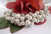 Cluster Pearl Bridal Bracelet