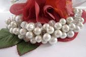 Cluster Pearl Bridal Bracelet