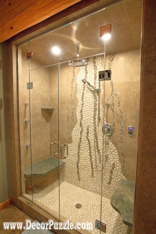 Shower Wall Tile Design bathroom tile 15 inspiring design ideas interiorforlifecom up close view of shower cutouts Stylish Bathroom Shower Tile Ideas Designs Tiling A Shower Black