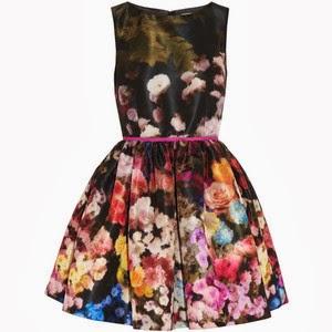 vestido Valentino estampado floral