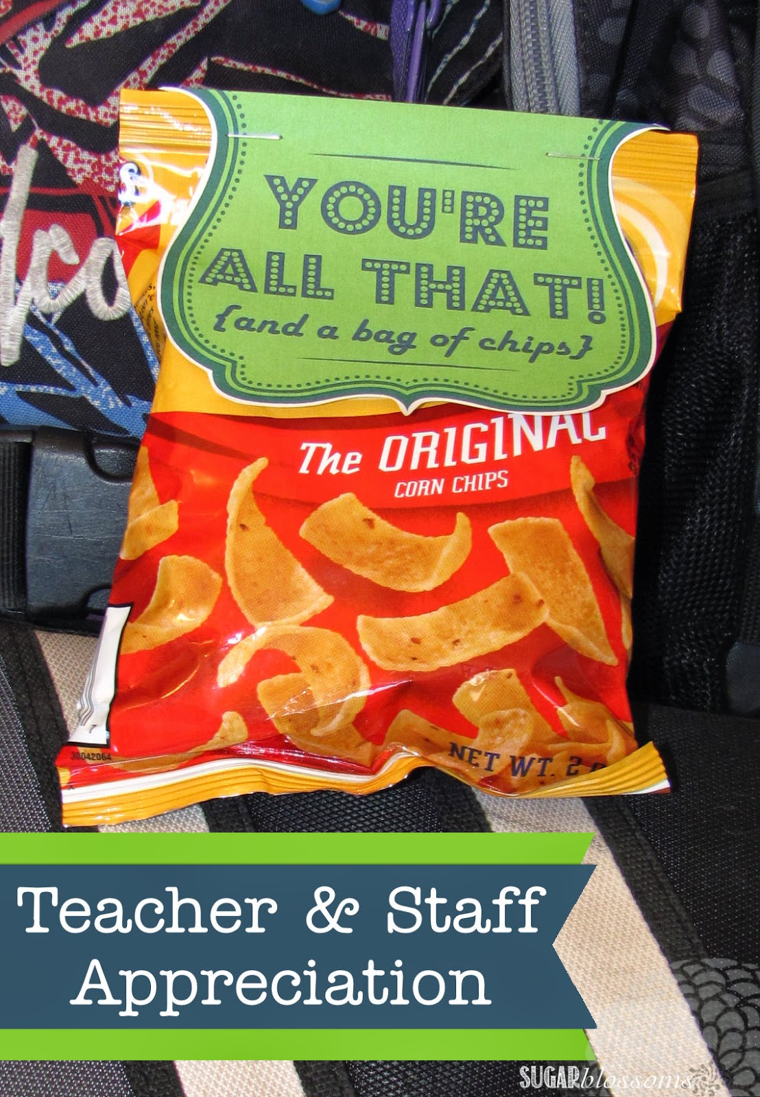 image about All That and a Bag of Chips Printable named Lovable Sugar Blossoms: Instructor Staff members Appreciation Printable