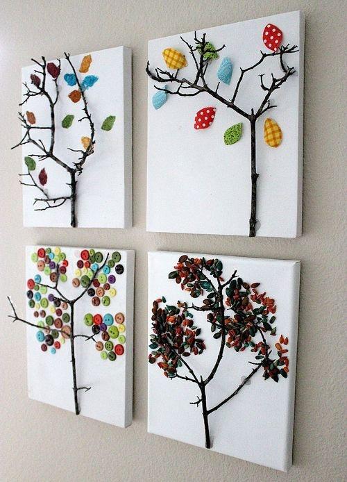 Картины на стену своими руками из подручных материалов 832
