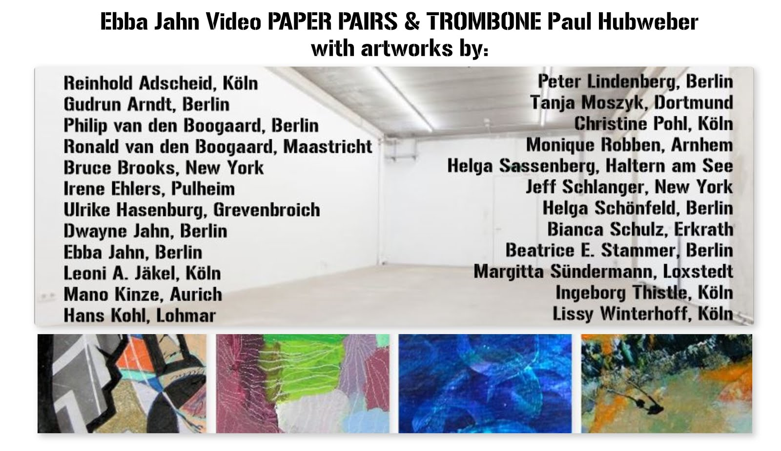 PAPER PAIRS Artworks in the Video by: