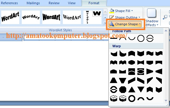 Membuat Tulisan Melingkar Wordart Tips Komputer Microsoft Word