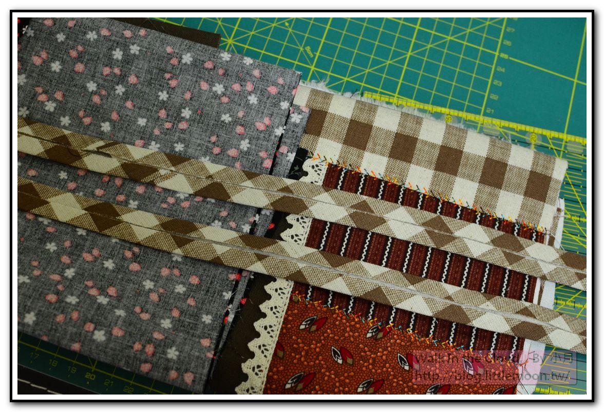 折燙完成的斜布條
