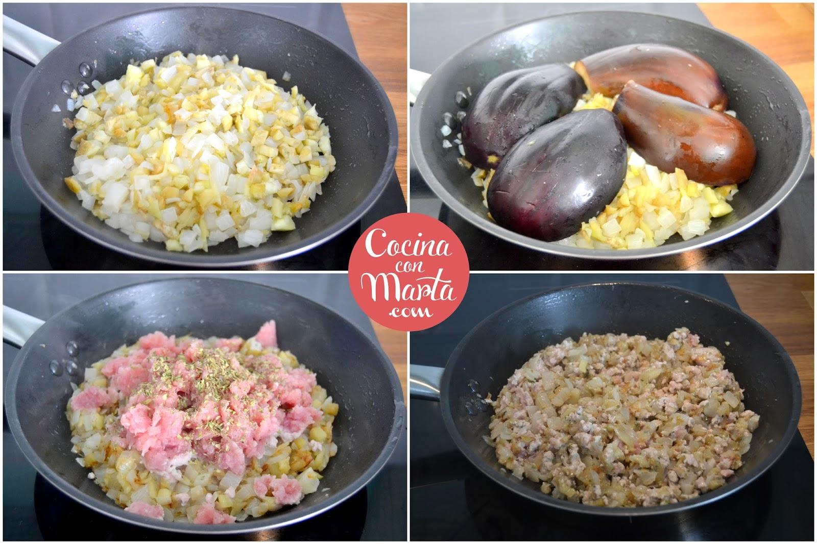 Berenjenas rellenas de carne for Cocina berenjenas rellenas