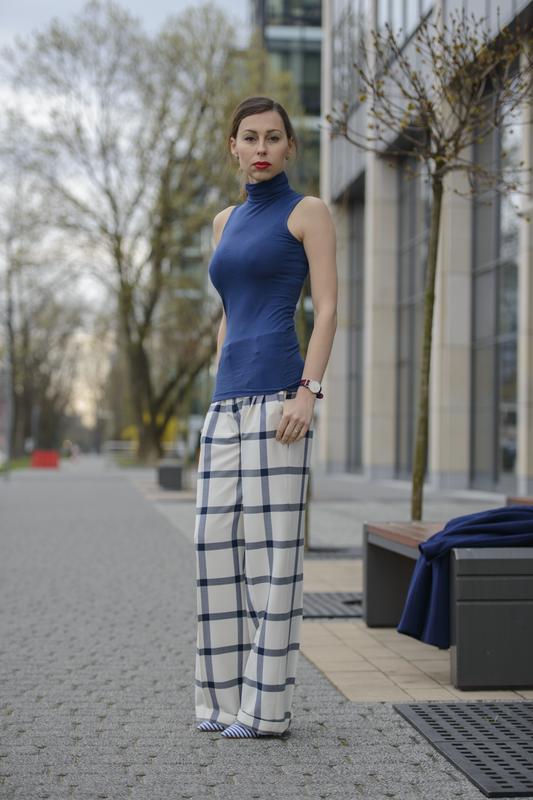 sposnie z szerokimi nogawkami zara fashionblog
