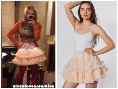 Jennette Mccurdy: American Apparel Multi Layered Reversible Petticoat