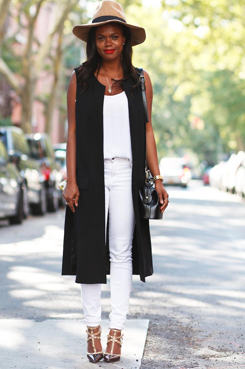 Casual black summer dresses - Dadou Chic Black Sleeveless Jacket