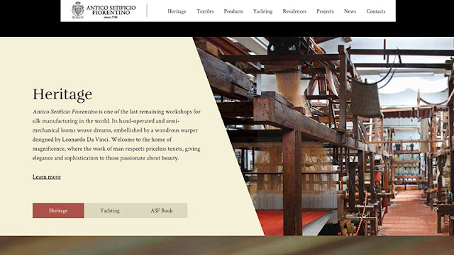 Custom photo website sample from Antico Setificio Fiorentino