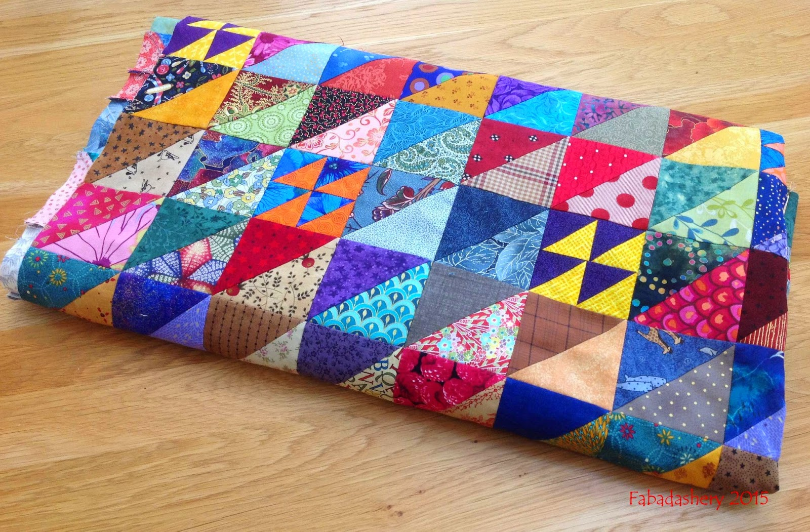 Half Square Triangle Scrap Quilt