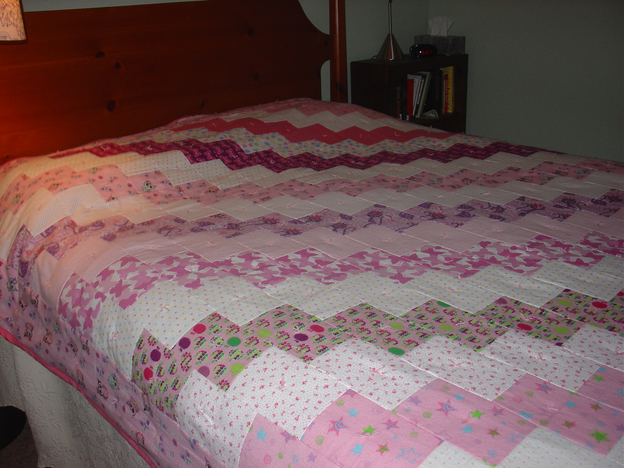 Treadlestitches tied quilts heres what the quilt looks like on a queen sized bed it is huge which is one of the reasons i decided to tie it instead of trying to machine quilt it ccuart Image collections