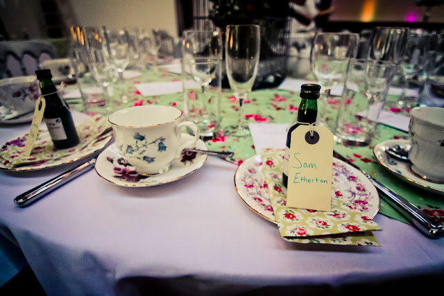 Shabby chic themed wedding table decor by Theme-Works Weddings