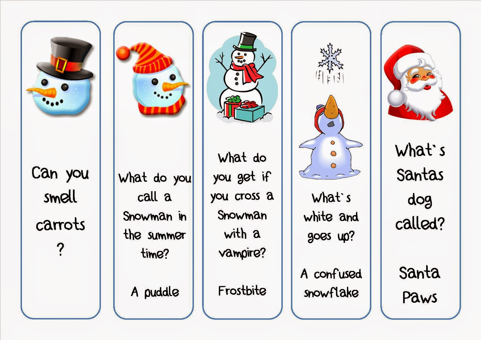 Free Christmas Bookmarks For Craft Fairs  Christmas Bookmark Templates