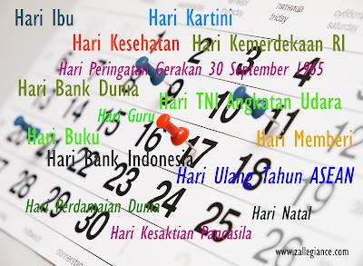Daftar Hari Besar Nasional dan Internasional Terlengkap