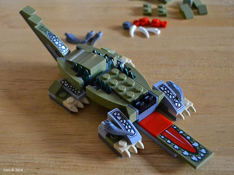 lego chima legend beast crocodile - a tail, but still no brain
