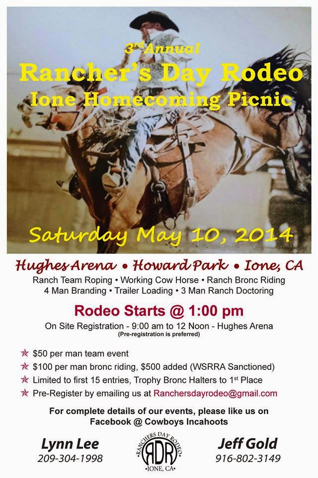 Rancher's Day Rodeo - Sat May 10