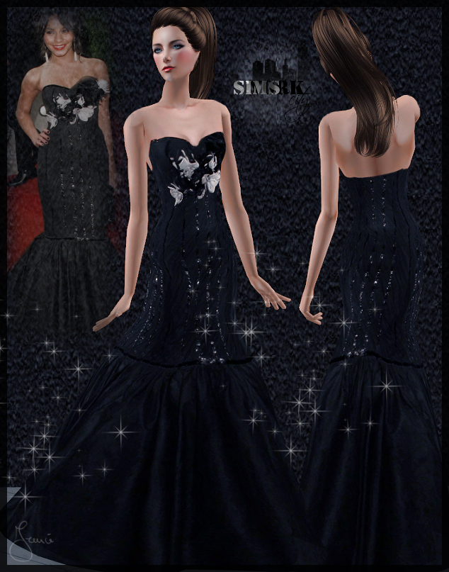Sims York City 71 Vanessa Hudgens Black Dress