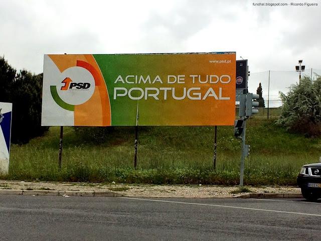 CARTAZ PSD - ROTUNDA DO RELÓGIO - LISBOA - 2015