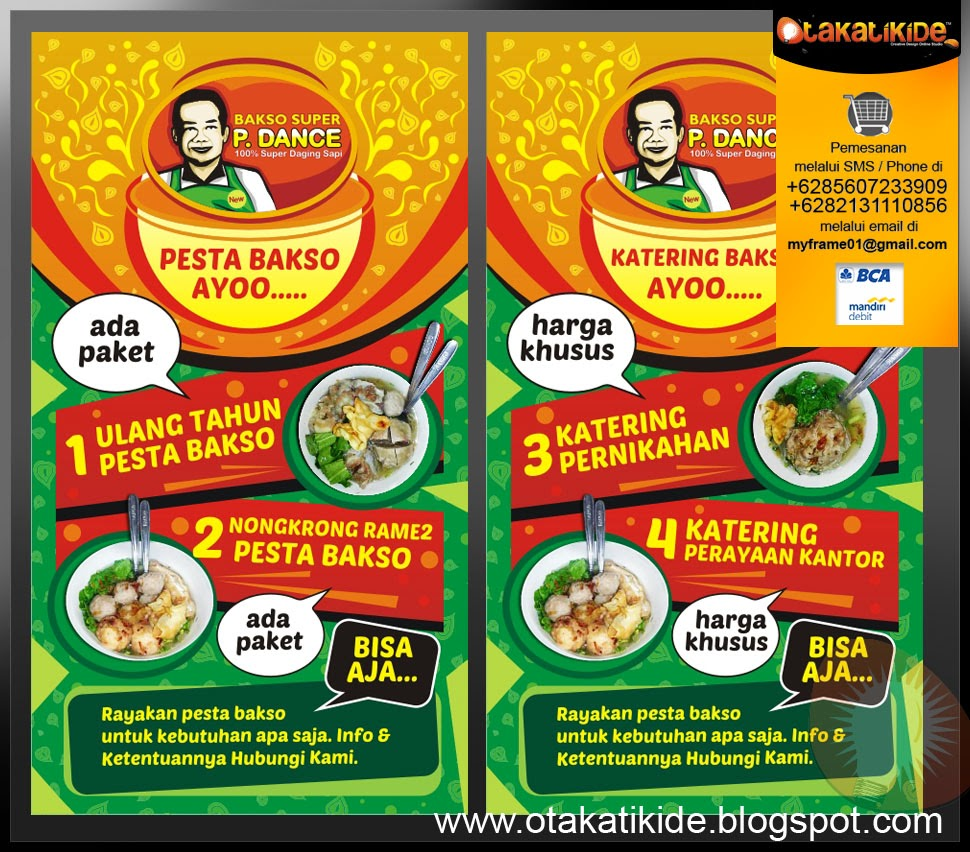 Jasa Desain Promosi Rumah Makan - Otakatikide