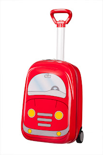 Sammies Samsonite Kids Hard Upright Suitcase - Car Design