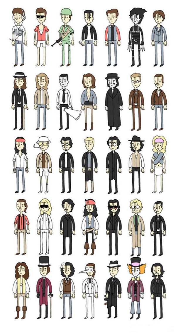Todas As Personagens De Johnny Depp