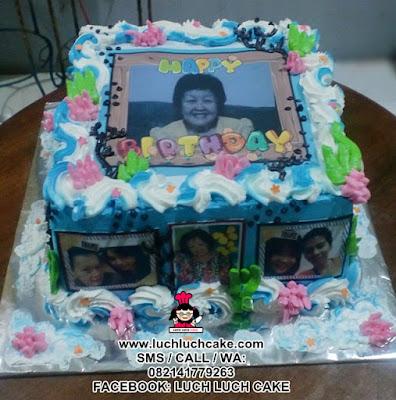 Kue Tart Edible Foto Untuk Ulang Tahun Ibu